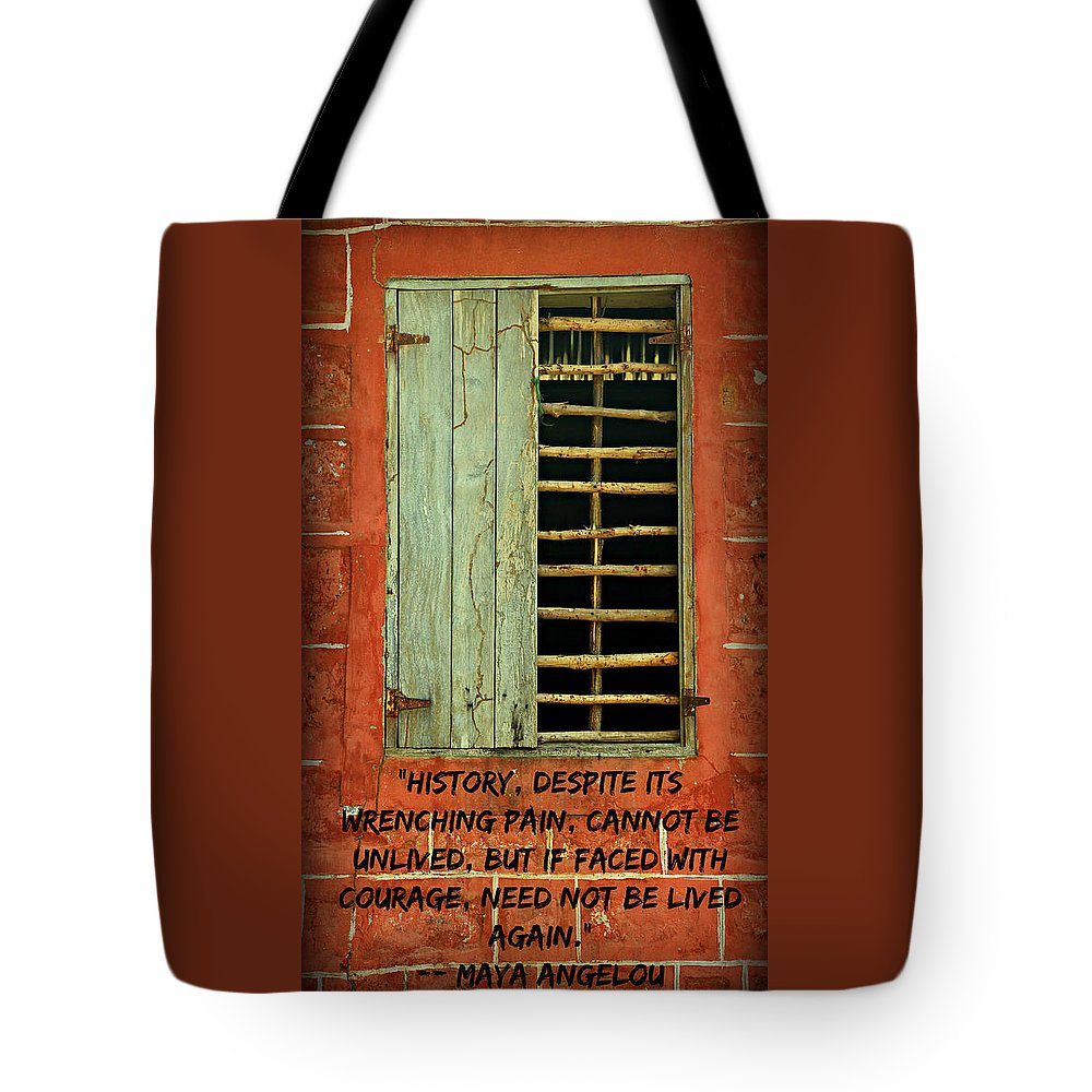 Maya Angelou Tote Bag featuring the photograph Triumphant Courage by Stephen Stookey