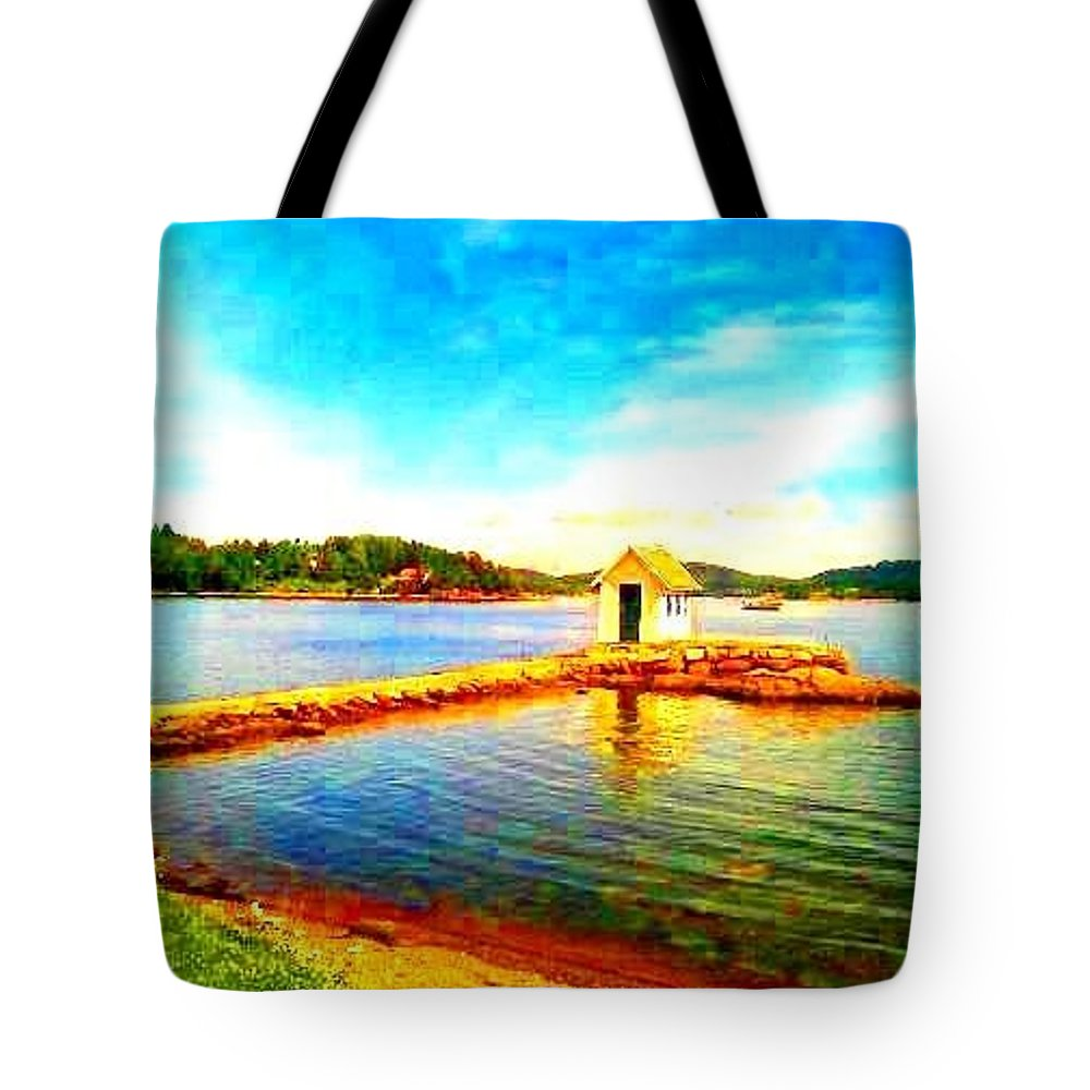 Seascape Tote Bag featuring the photograph I Could Forgive Them If They Ever Had Asked For It by Hilde Widerberg
