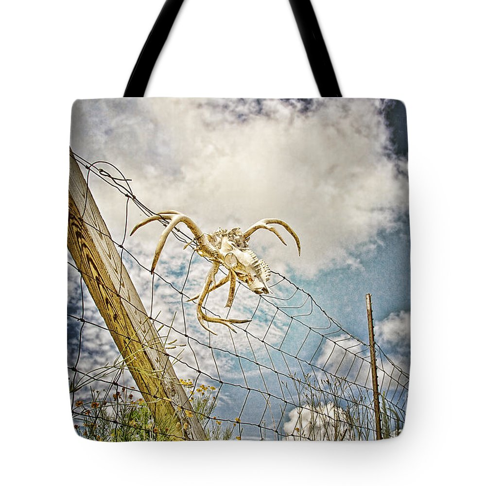 Skull Tote Bag featuring the photograph Trophy Display by Scott Pellegrin
