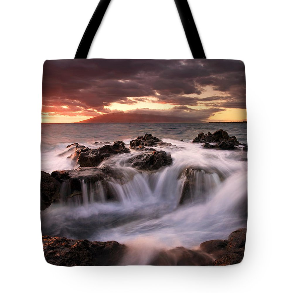 Hawaii Tote Bag featuring the photograph Tropical Cauldron by Mike Dawson