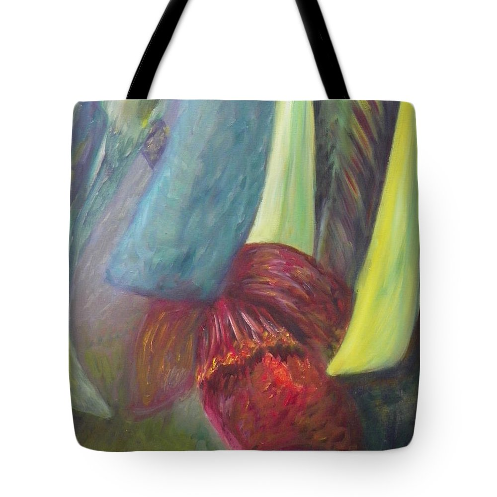 Tropical Tote Bag featuring the painting Tropical Experience by Patty Weeks