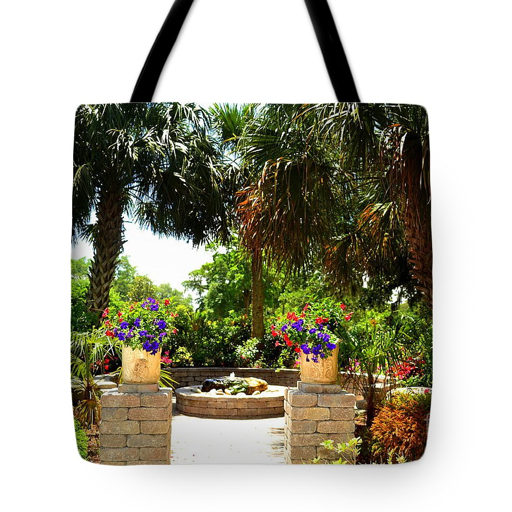 Tropical Tote Bag featuring the photograph Tropical Garden by Amy Lucid