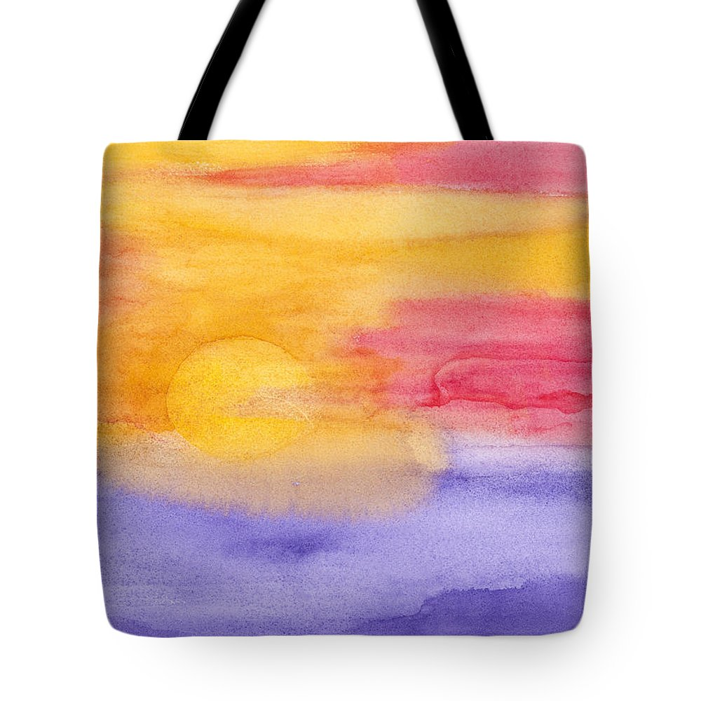 Tropical Tote Bag featuring the painting Tropical Horizon by Rhonda Leonard
