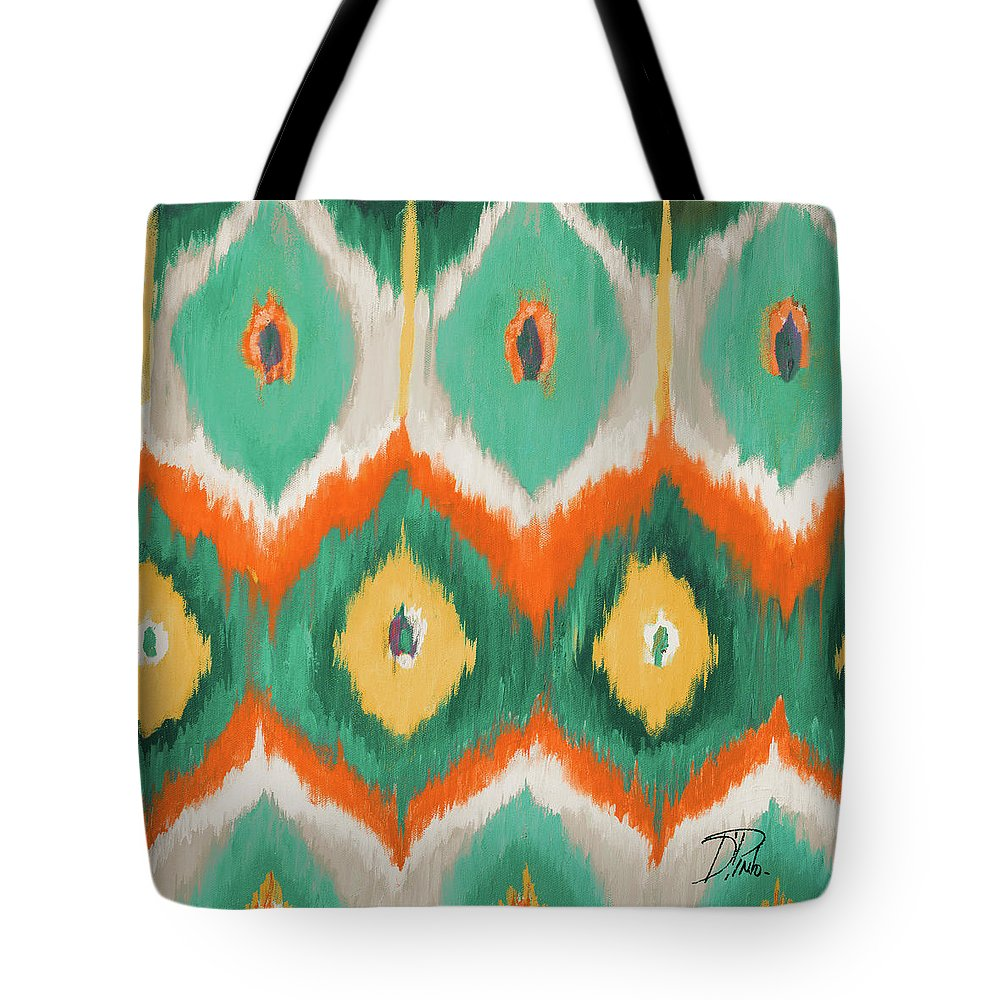 Tropical Tote Bag featuring the painting Tropical Ikat II by Patricia Pinto