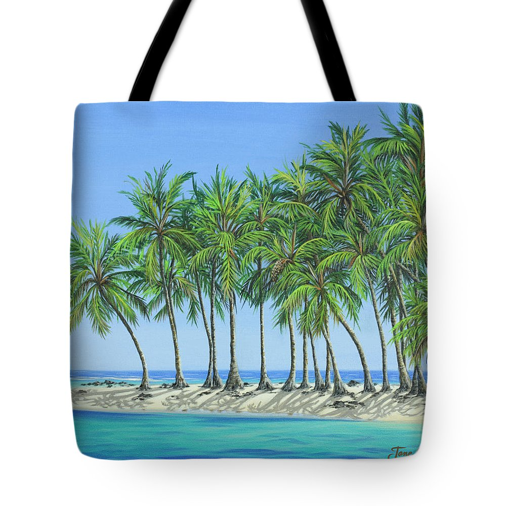 Ocean Tote Bag featuring the painting Tropical Lagoon by Jane Girardot