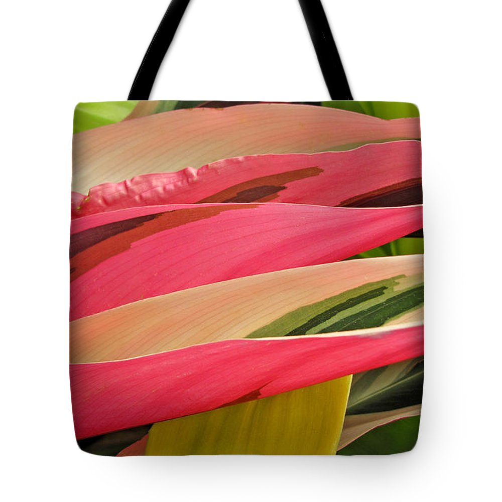 Duane Mccullough Tote Bag featuring the photograph Tropical Leaves Abstract 3 by Duane McCullough