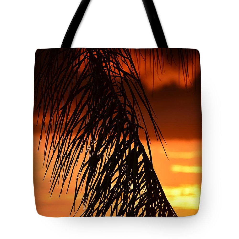 Tropical Sunset Tote Bag featuring the photograph Tropical Sunset by David Lee Thompson