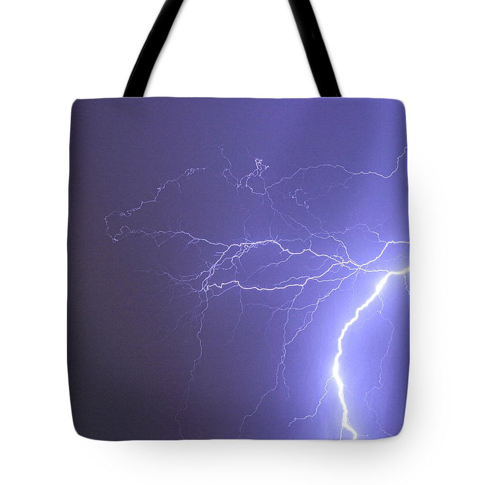 Lightning Tote Bag featuring the photograph Tropical Thunderstorm Night by James BO Insogna