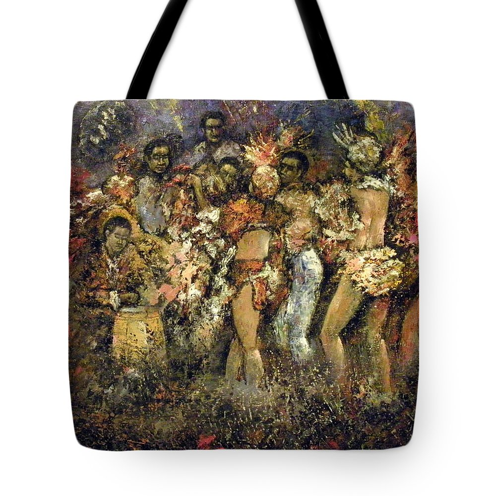 Tropicana Tote Bag featuring the painting Tropicana Havana by Tomas Castano