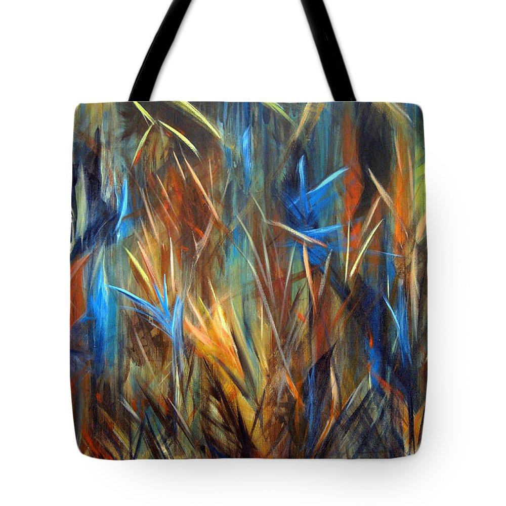 Tropic Grasses Tote Bag featuring the painting Tropics by Roberta Rotunda