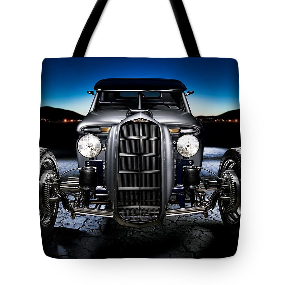 Car Tote Bag featuring the photograph Millers Chop Shop 1964 Truckster Frontend by Yo Pedro