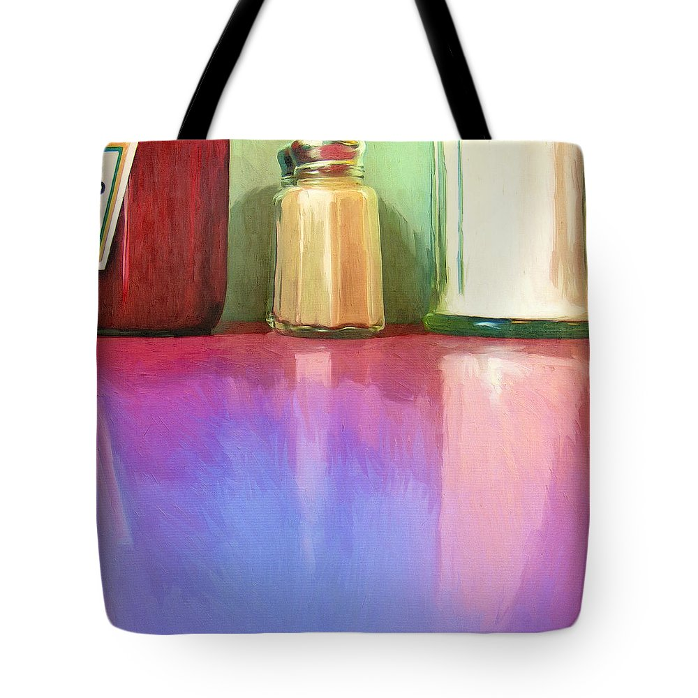 Truckstop Tote Bag featuring the painting Truckstop by Dominic Piperata