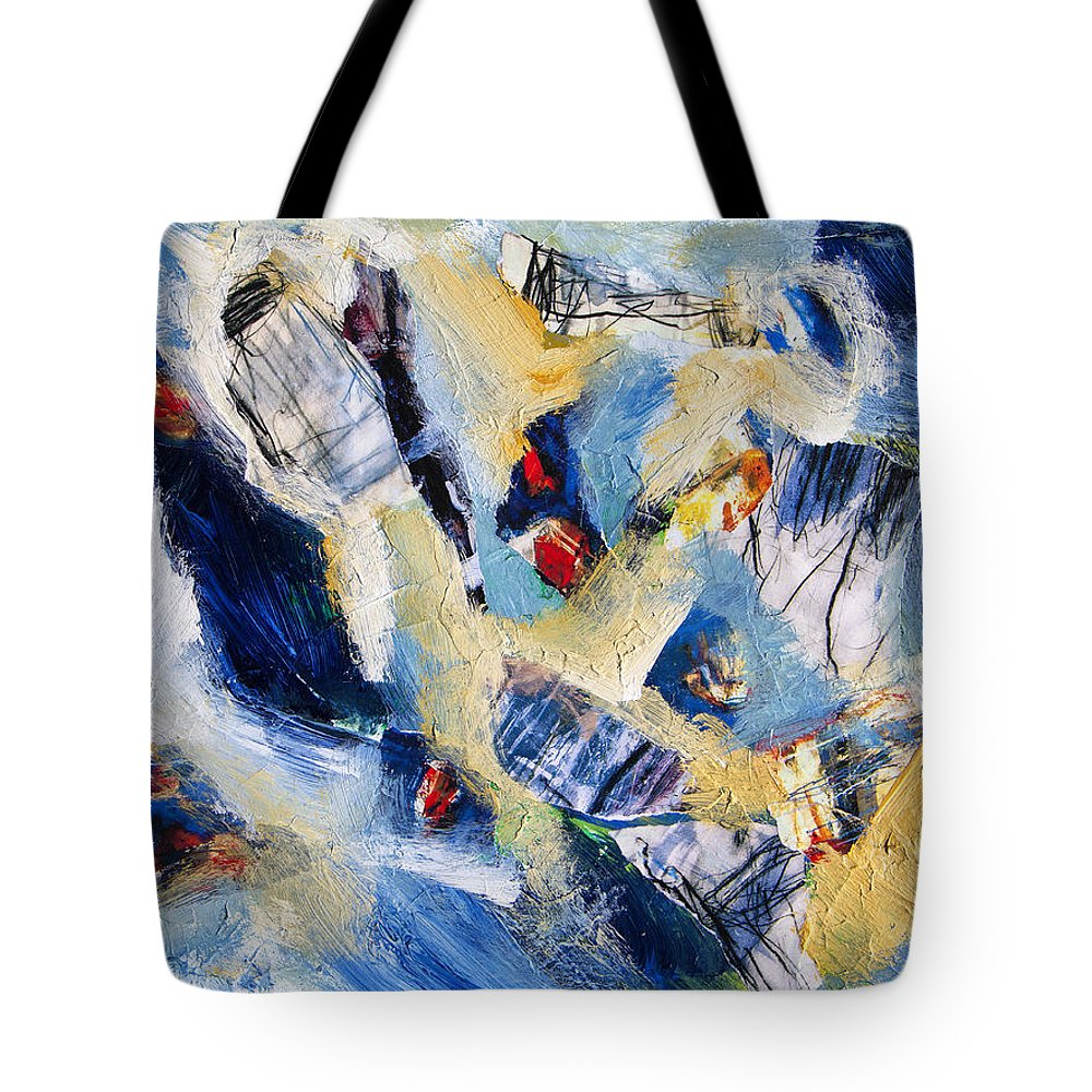 Abstract Tote Bag featuring the painting Tsunami 2 by Dominic Piperata