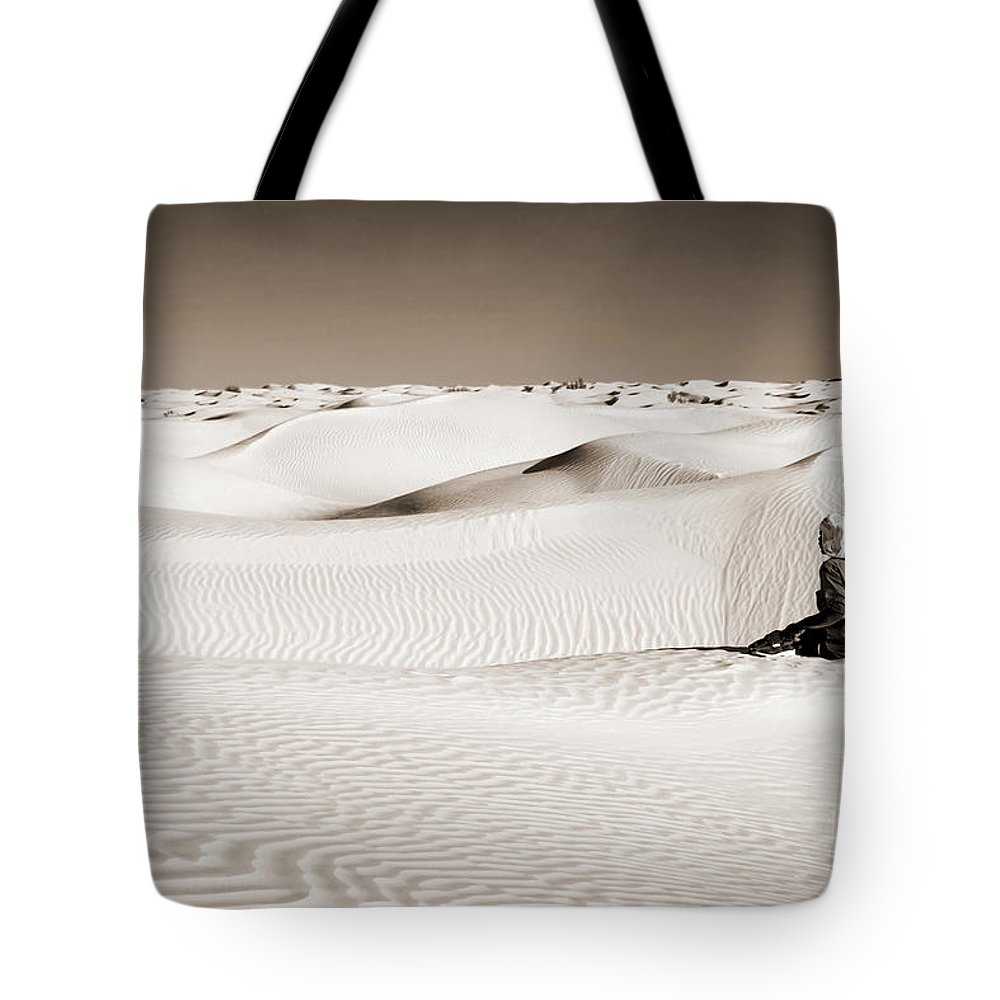 Desert Tote Bag featuring the photograph Tuareg by Delphimages Photo Creations