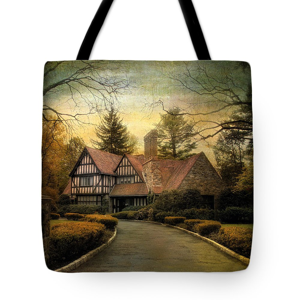 Tudor Tote Bag featuring the photograph Tudor Road by Jessica Jenney