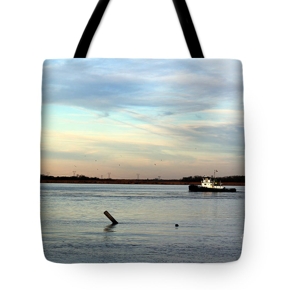 Tug Boat Tote Bag featuring the photograph Tug Boat by David Jackson