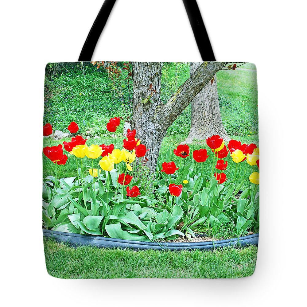 Tulip Tote Bag featuring the photograph Tulip Bed by Aimee L Maher ALM GALLERY