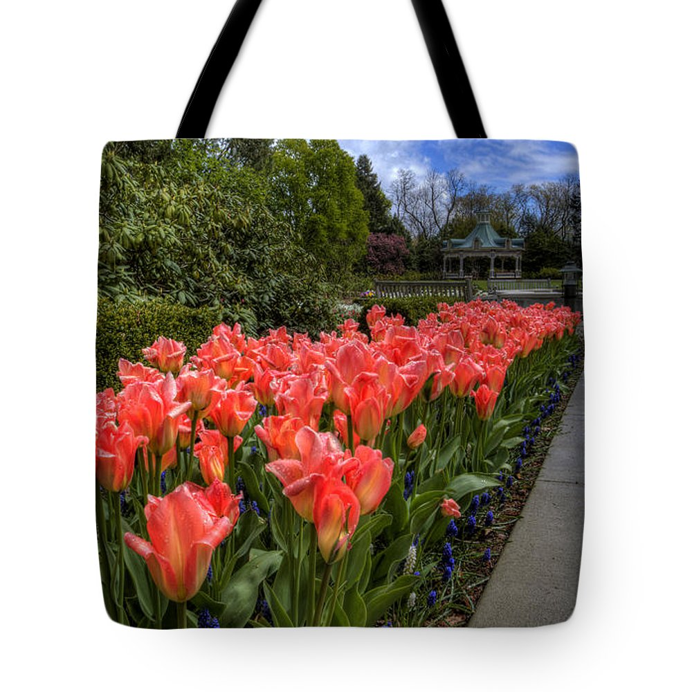 Flowers Tote Bag featuring the photograph Tulips by David Dufresne