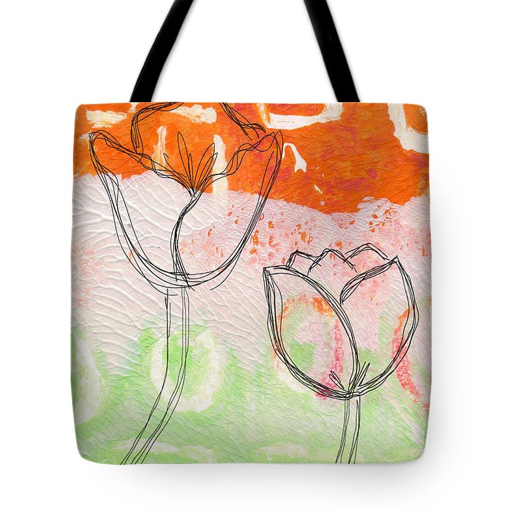 Tulip Mixed Media Tote Bags