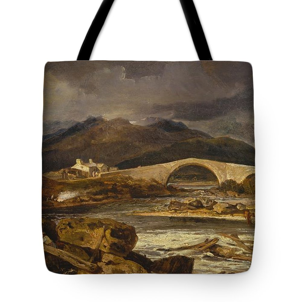 1802 Tote Bag featuring the painting Tummel Bridge by JMW Turner