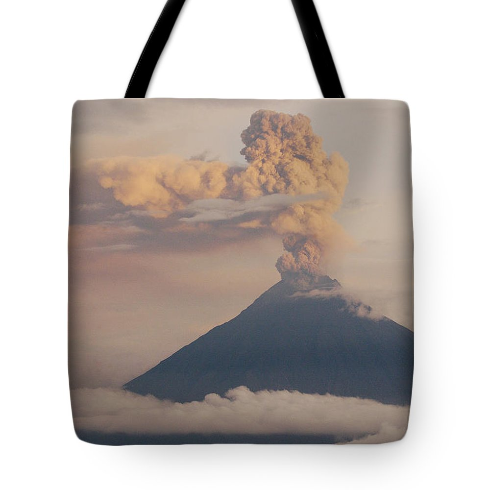 Andes Mountains Tote Bag featuring the photograph Tungurahua Volcano Erupting by Pete Oxford