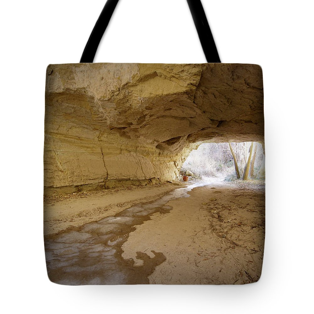 Mineral Tote Bag featuring the photograph Tunnel by Sandsun