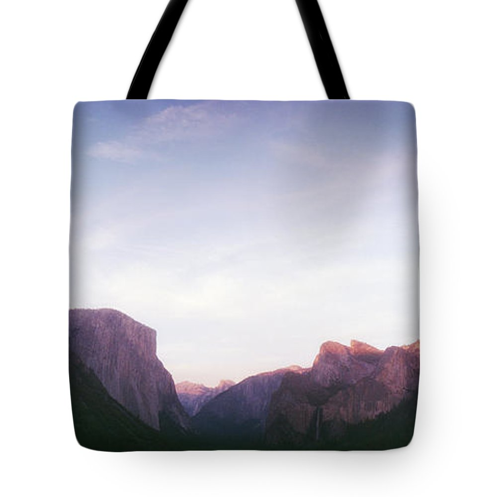 Photography Tote Bag featuring the photograph Tunnel View Of Yosemite Valley by Panoramic Images