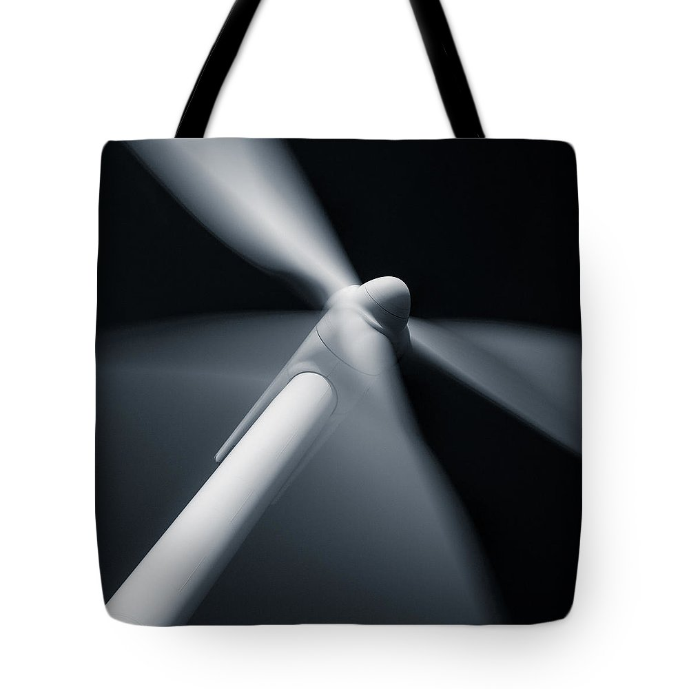 Wind Turbine Tote Bag featuring the photograph Wind Turbine by Dave Bowman