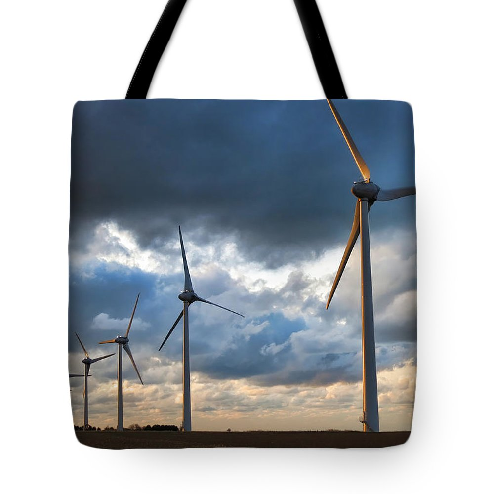 Tote Bag featuring the photograph Turbines by Olivier Le Queinec