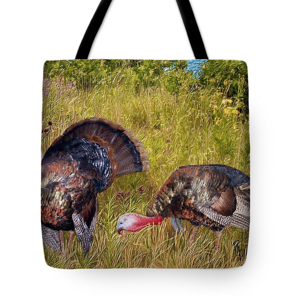 Wild Tote Bag featuring the digital art Turkey Terrain by Ric Darrell