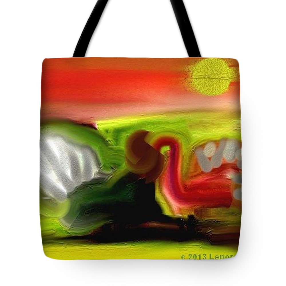 Turkeys Tote Bag featuring the painting Turkeys In The Straw by Lenore Senior
