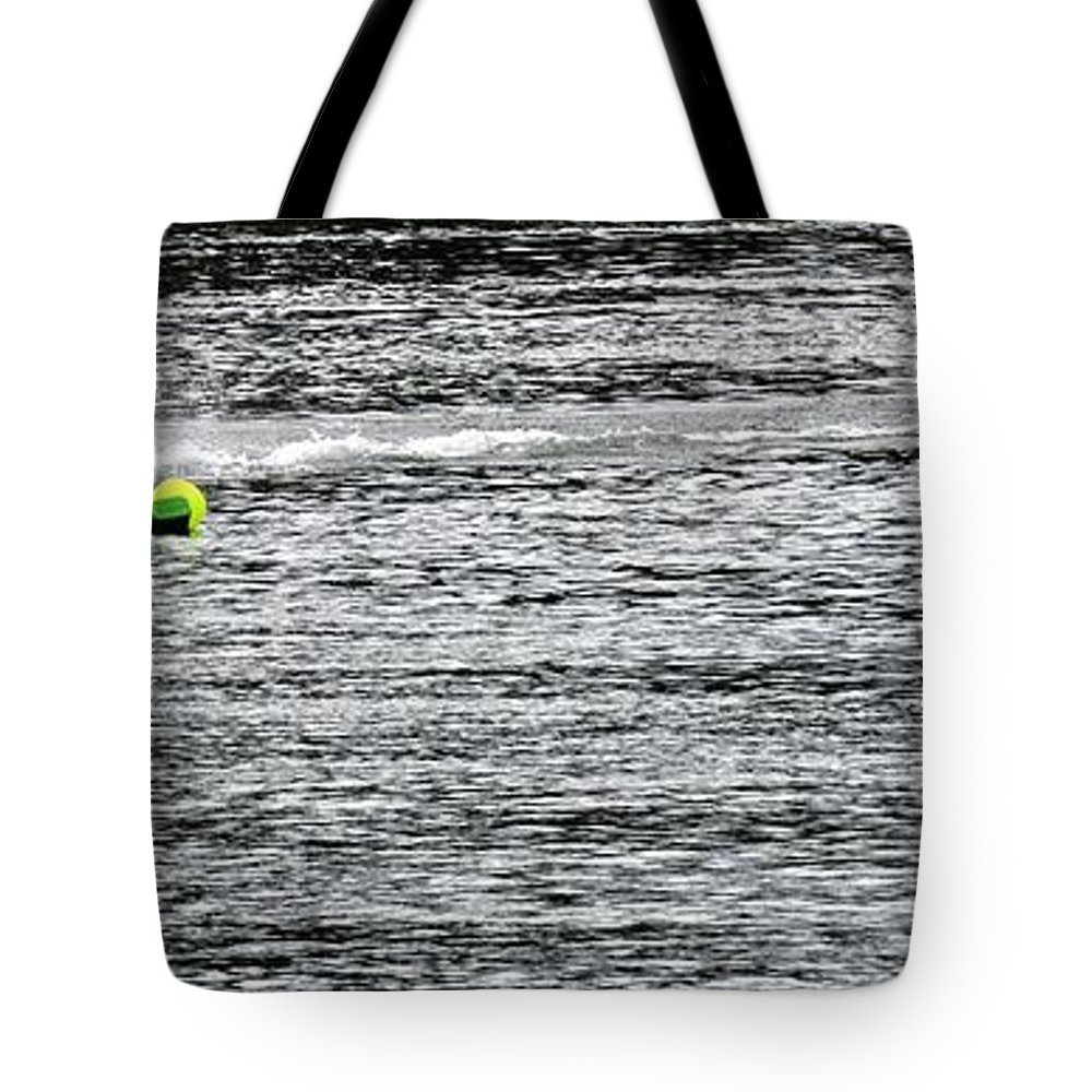 Rogers Tote Bag featuring the photograph Turn Two 24380 by Jerry Sodorff