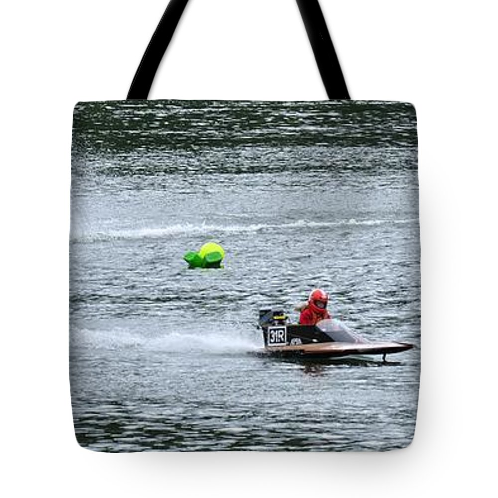Rogers Tote Bag featuring the photograph Turn Two 24404 by Jerry Sodorff