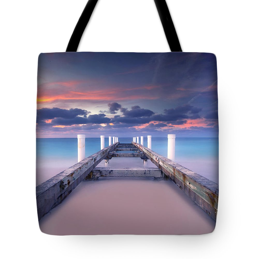 Beach Tote Bag featuring the photograph Turquoise Paradise by Marco Crupi