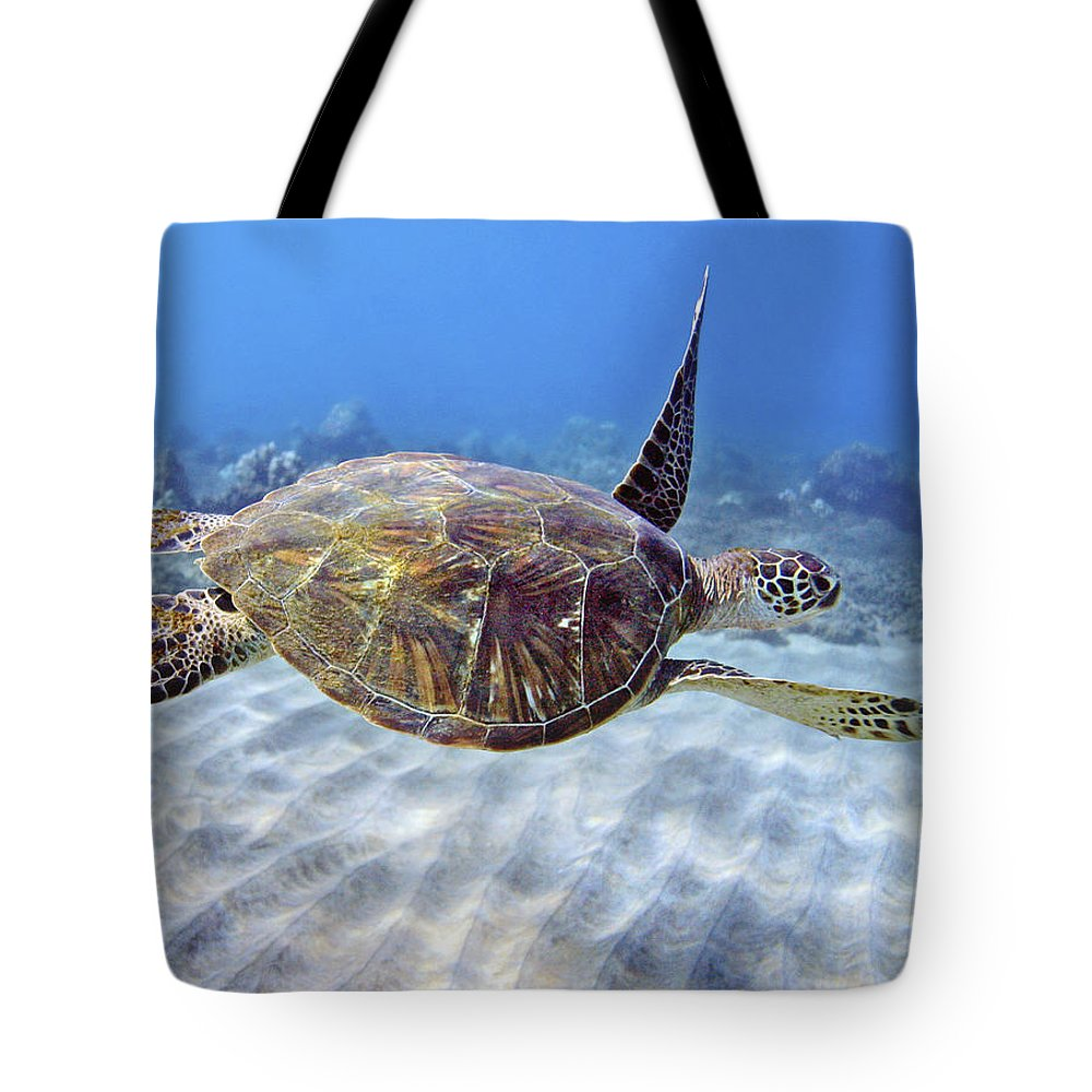 Beautiful Tote Bag featuring the photograph Turtle Underwater 3 by M Swiet Productions