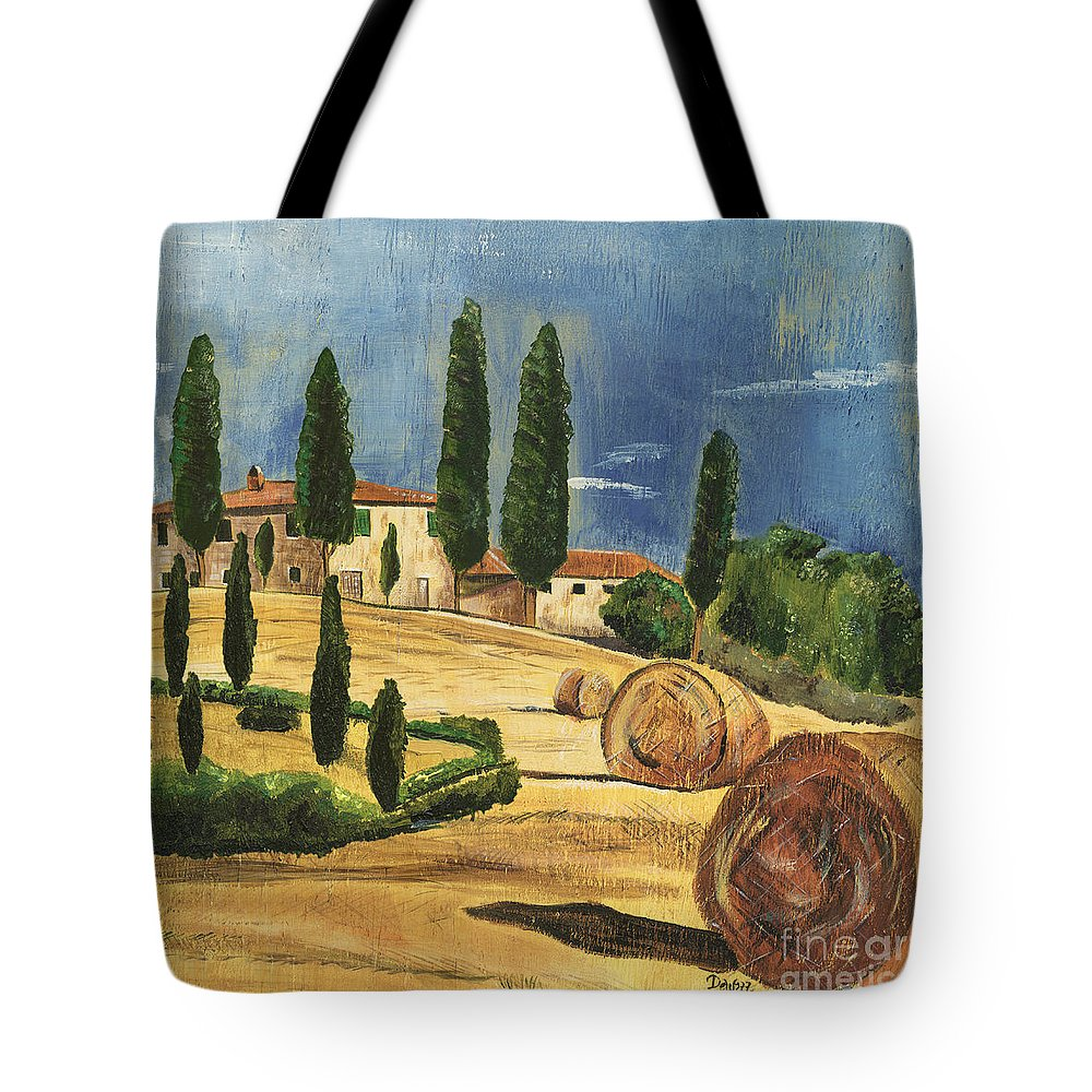 Tuscany Tote Bag featuring the painting Tuscan Dream 2 by Debbie DeWitt