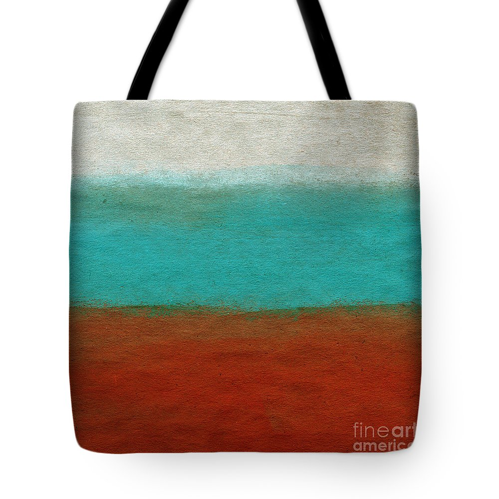 Abstract Landscape Tote Bag featuring the painting Tuscan by Linda Woods