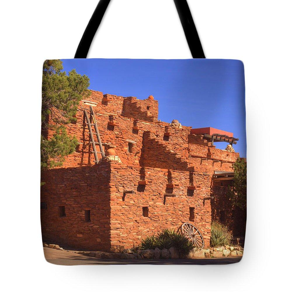 Tuzigoot Tote Bag featuring the photograph Tuzigoot Museum And Ruins Arizona by Douglas Barnett