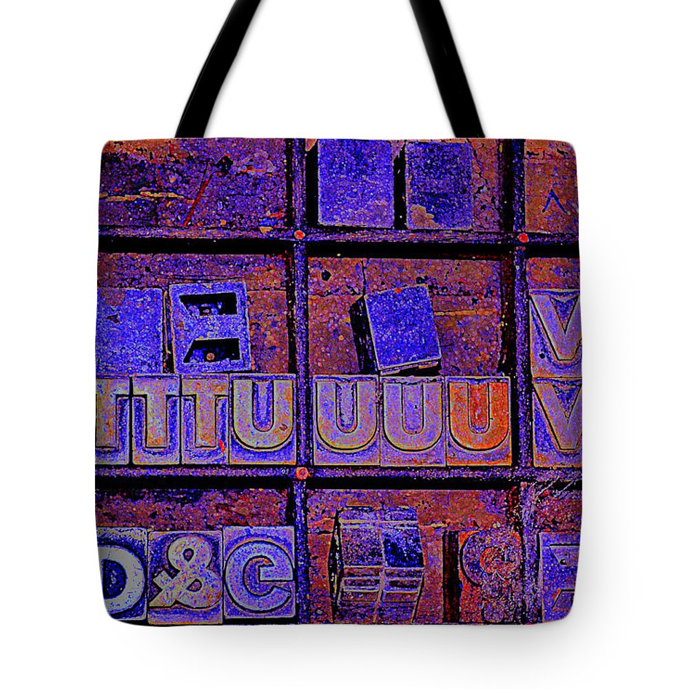Typography Tote Bag featuring the photograph Tv I by Diane montana Jansson