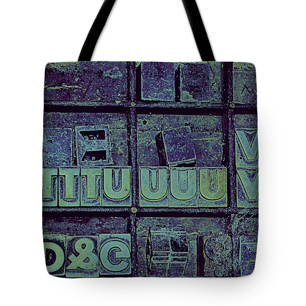 Typography Tote Bag featuring the photograph Tv II by Diane montana Jansson