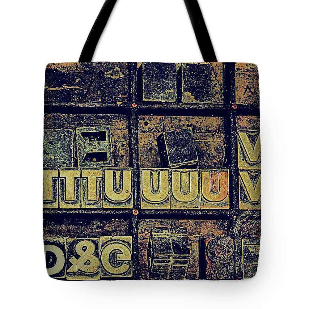 Typography Tote Bag featuring the photograph Tv IIi by Diane montana Jansson