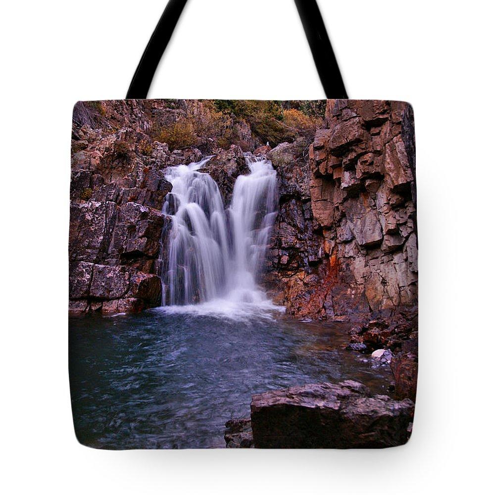 Colorado Tote Bag featuring the photograph Twilight Falls 2 by Jeremy Rhoades