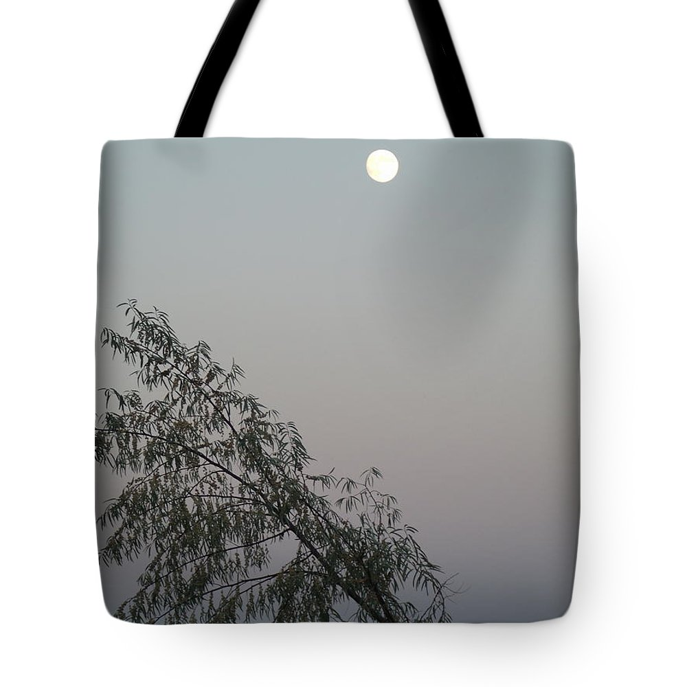 Moon Tote Bag featuring the photograph Twilight by Jessica Myscofski