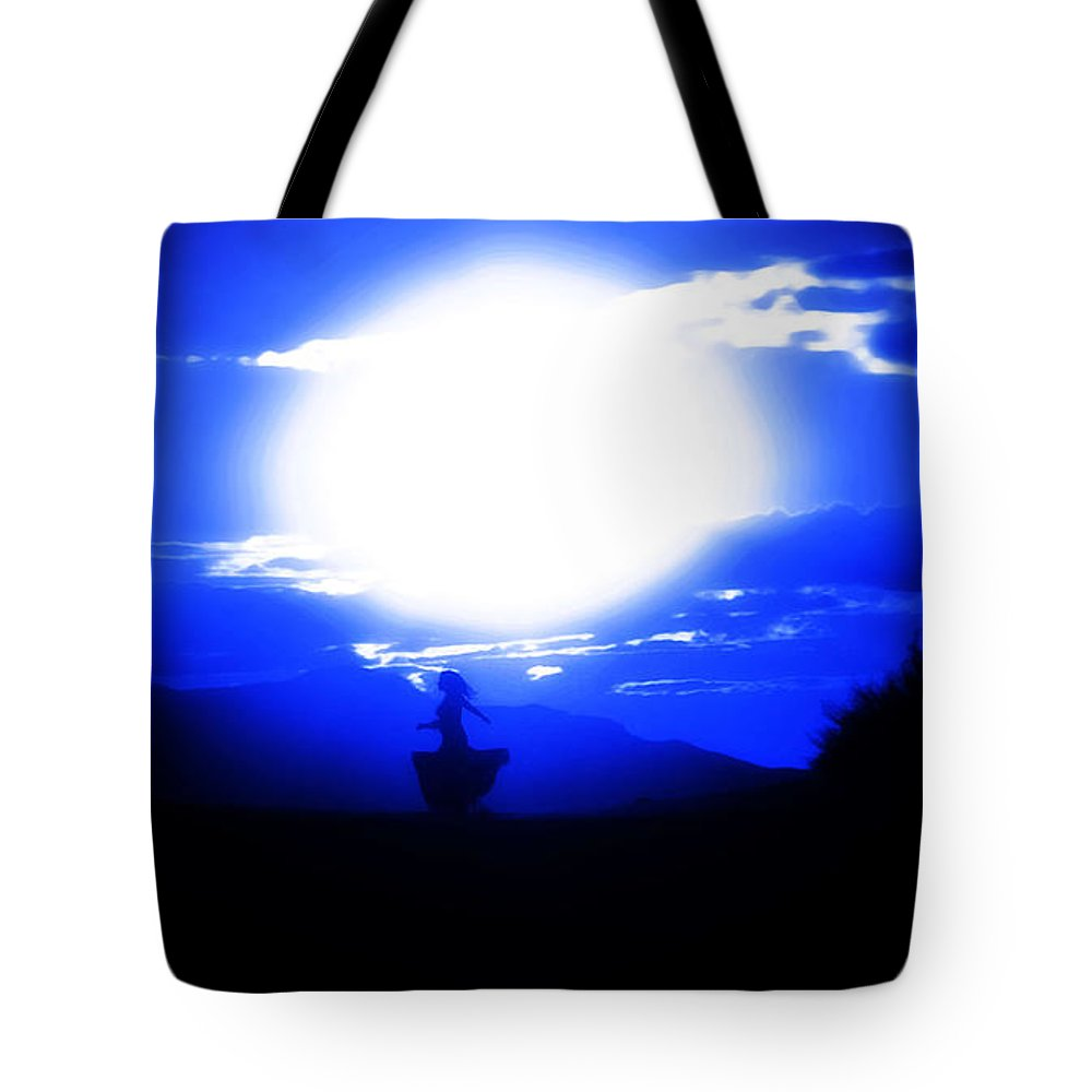 Blue Tote Bag featuring the photograph Twilight by Jessica Shelton