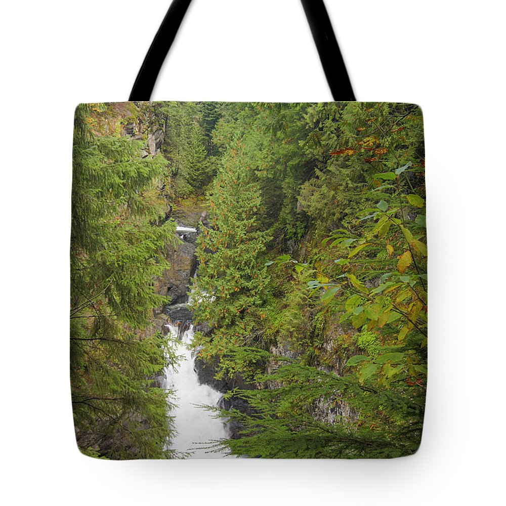 Landscape Tote Bag featuring the photograph Twin Falls Cascade II by Darleen Stry