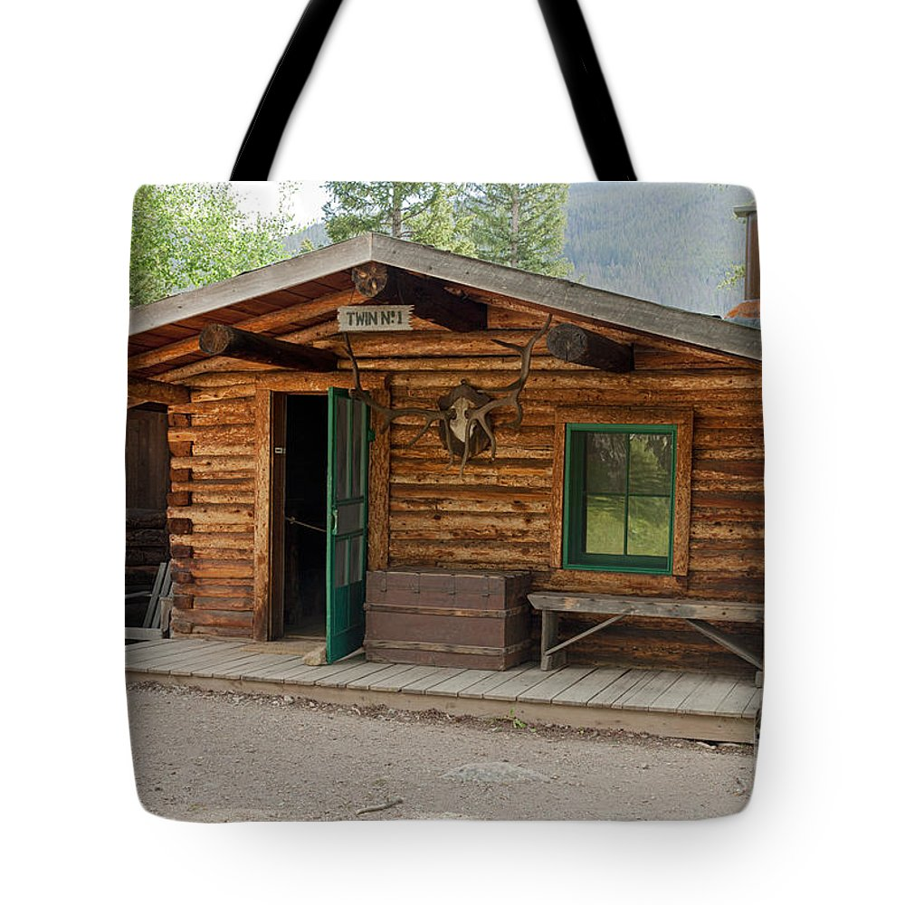 Cabin Tote Bag featuring the photograph Twin No. 1 Cabin At The Holzwarth Historic Site by Fred Stearns