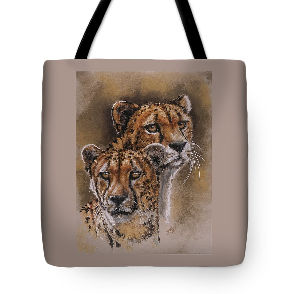 Cheetah Tote Bag featuring the pastel Twins by Barbara Keith