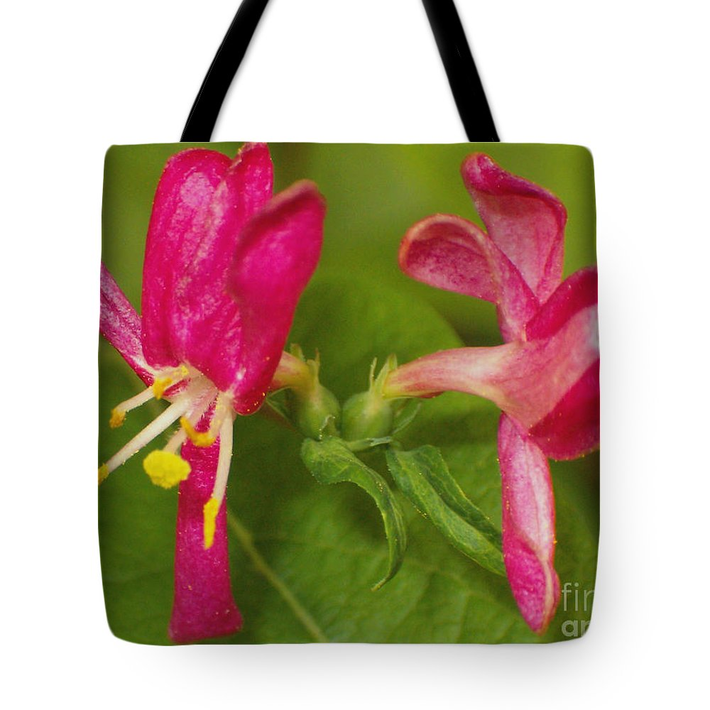 Flower Tote Bag featuring the photograph Twins by Sara Raber