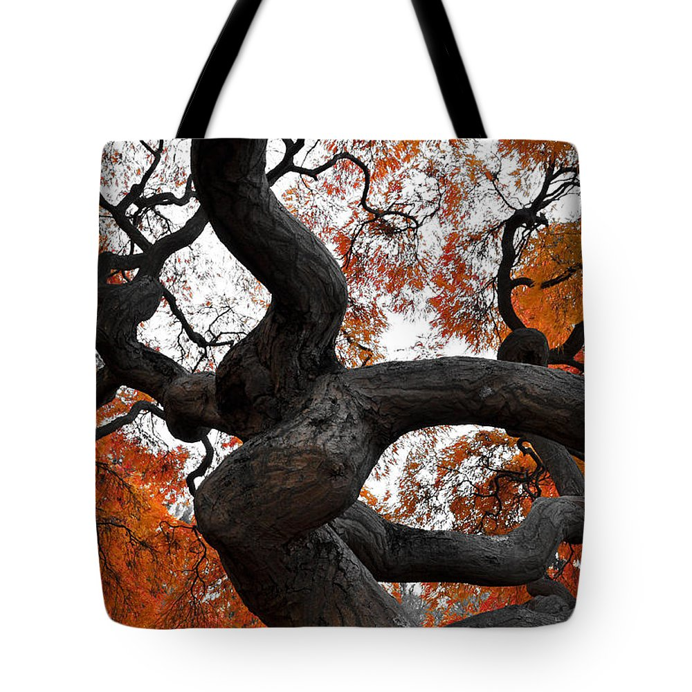 New Jersey Tote Bag featuring the photograph Twisted by Kristopher Schoenleber