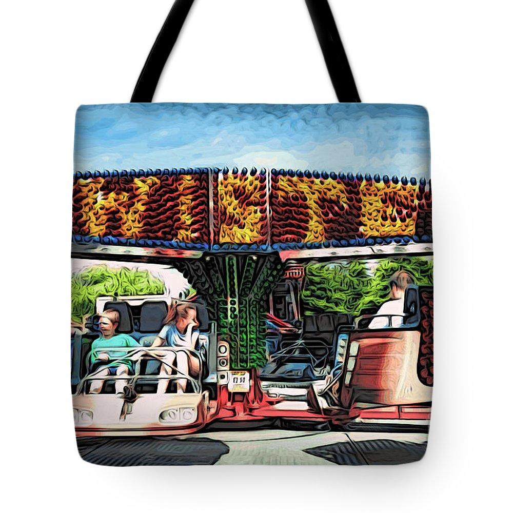 Amusement Tote Bag featuring the digital art Twister by Paul Stevens